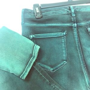 NINE WEST- Hunter Green Washed Skinny Jeans SZ 10